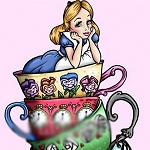ALICE IN A TEACUP Diamond Painting Kit Paint With Diamonds Kit