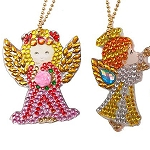 4 CRYSTAL ANGEL KEYCHAINS Diamond Painting Keychain Kit