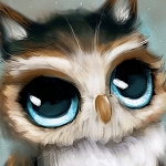 BABY OWL Diamond Painting Kit Paint with Diamonds Kit