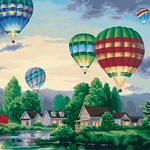 HOT AIR BALLOON FLIGHT Diamond Painting Kit Paint with Diamonds Kit