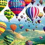 HOT AIR BALLOONS Diamond Painting Kit Paint with Diamonds Kit