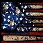 AMERICAN FLAG BASEBALL Diamond Painting Kit Paint with Diamonds Kit