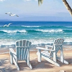 BEACH CHAIRS Diamond Painting Kit Paint with Diamonds Kit
