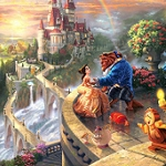 BEAUTY & THE BEAST Diamond Painting Kit Paint with Diamonds Kit