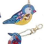 4 CRYSTAL BIRDS KEYCHAINS Diamond Painting Keychain Kit