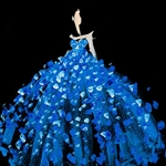 BLUE PRINCESS GOWN Diamond Painting Kit Paint with Diamonds Kit