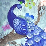 BLUE PEACOCK TAIL Diamond Painting Kit Paint with Diamonds Kit