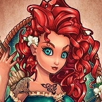 BRAVE MERIDA PINUP TATTOO Diamond Painting Kit Paint with Diamonds Kit