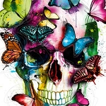 BUTTERFLY SKULL Diamond Painting Kit Paint with Diamonds Kit