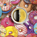 COFFEE & DONUTS Diamond Painting Kit Paint with Diamonds Kit