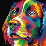 COLORFUL DOG Diamond Painting Kit Paint with Diamonds Kit