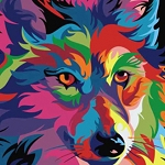 COLORFUL WOLF Diamond Painting Kit Paint with Diamonds Kit