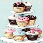 CUPCAKES Diamond Painting Kit Paint with Diamonds Kit