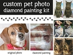 CUSTOM PET PHOTO Diamond Painting Kit Pet Photo Paint With Diamonds Kit