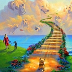DOG HEAVEN RAINBOW BRIDGE Walk Diamond Painting Kit Paint with Diamonds Kit