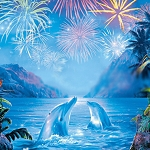 DOLPHIN FIREWORKS Diamond Painting Kit Paint with Diamonds Kit