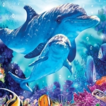 DOLPHIN REEF Diamond Painting Kit Paint With Diamonds Kit