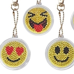 5 CRYSTAL EMOJI FACES KEYCHAINS Diamond Painting Keychain Kit