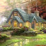 FOREST COTTAGE Diamond Painting Kit Paint with Diamonds Kit