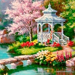 GARDEN GAZEBO Diamond Painting Kit Paint with Diamonds Kit