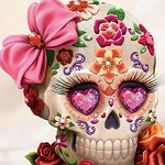 GIRLY SKULL Diamond Painting Kit Paint with Diamonds Kit