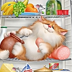 GLUTTEN KITTY Diamond Painting Kit Paint with Diamonds Kit