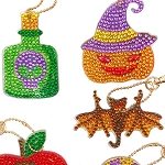 5 CRYSTAL HALLOWEEN KEYCHAINS Diamond Painting Keychain Kit