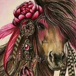 HORSE WITH FEATHERS Diamond Painting Kit Paint with Diamonds Kit