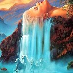 WATERFALL OF HORSES Diamond Painting Kit Paint with Diamonds Kit