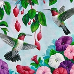 HUMMINGBIRDS & FLOWERS Diamond Painting Kit Paint with Diamonds Kit