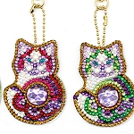 4 CRYSTAL KITTEN KEYCHAINS Diamond Painting Keychain Kit