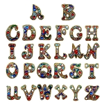 CRYSTAL ALPHABET LETTERS KEYCHAINS Diamond Painting Keychain Kit