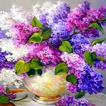 LILAC BOUQUET Diamond Painting Kit Paint With Diamonds Kit