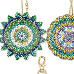 5 CRYSTAL MANDALA KEYCHAINS Diamond Painting Keychain Kit