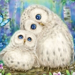OWL FAMILY Diamond Painting Kit Paint with Diamonds Kit