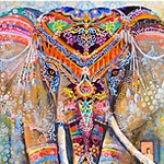 PAINTED ELEPHANT Diamond Painting Kit Paint With Diamonds Kit