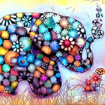 PATCHWORK ELEPHANT Diamond Painting Kit Paint With Diamonds Kit