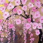 PINK TREE BLOSSOM Diamond Painting Kit Paint with Diamonds Kit