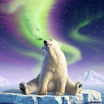 POLAR BEAR KISS Diamond Painting Kit Paint with Diamonds Kit