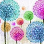 COLORFUL PUFF BALLS Diamond Painting Kit Paint with Diamonds Kit