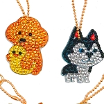 4 CRYSTAL PUPPY KEYCHAINS Diamond Painting Keychain Kit