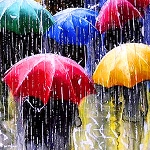 RAIN IN THE STREET Diamond Painting Kit Paint with Diamonds Kit