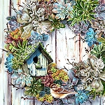 RUSTIC VINTAGE WREATH Diamond Painting Kit Paint with Diamonds Kit