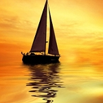 LONELY SAILBOAT Diamond Painting Kit Paint with Diamonds Kit