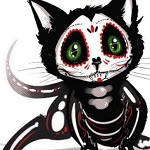 SKELETON KITTY Diamond Painting Kit Paint with Diamonds Kit