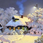 SNOWY HOUSES Diamond Painting Kit Paint with Diamonds Kit