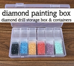 Diamond Painting Diamond Drills Storage Box with 24 Flip Top Containers