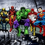 SUPER HERO LUNCH BREAK Diamond Painting Kit Paint With Diamonds Kit