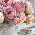 TEA & ROSES Diamond Painting Kit Paint with Diamonds Kit