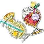 4 CRYSTAL TROPICAL DRINKS KEYCHAINS Diamond Painting Keychain Kit